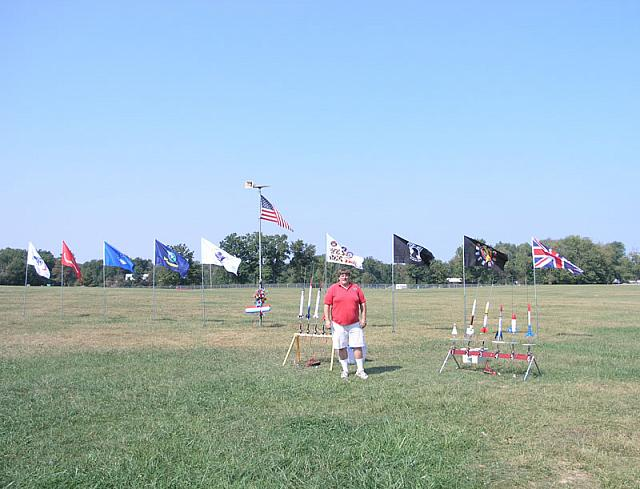 Roger Sadowski and his excellent flag display